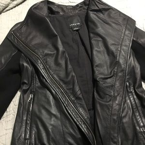 Trouve Genuine Leather Jacket Nordstrom Buttersoft